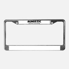 Agnostic Question Everything License Plate Frame