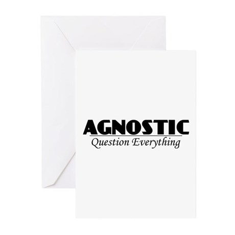Agnostic Question Everything Greeting Cards (Pk of