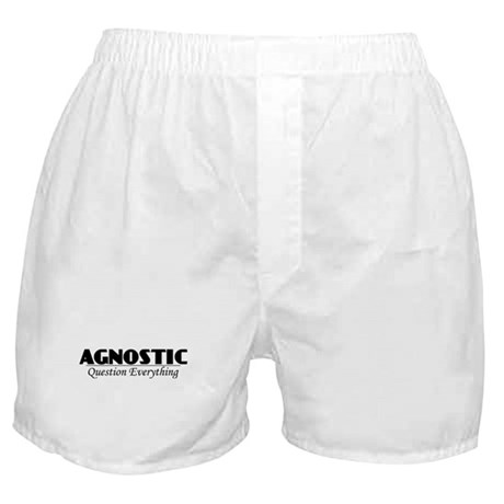 Agnostic Question Everything Boxer Shorts