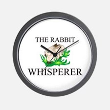 The Rabbit Whisperer Wall Clock