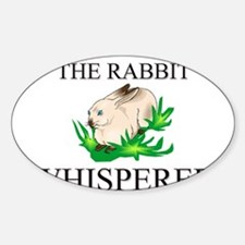 The Rabbit Whisperer Oval Decal