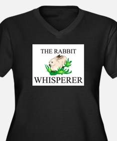 The Rabbit Whisperer Women's Plus Size V-Neck Dark
