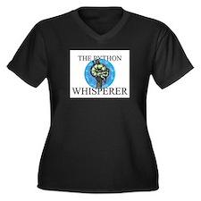 The Python Whisperer Women's Plus Size V-Neck Dark