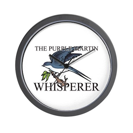 The Purple Martin Whisperer Wall Clock