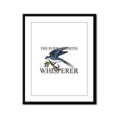 The Purple Martin Whisperer Framed Panel Print