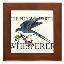 The Purple Martin Whisperer Framed Tile