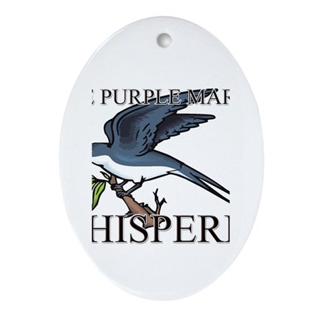 The Purple Martin Whisperer Oval Ornament