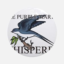 The Purple Martin Whisperer Ornament (Round)