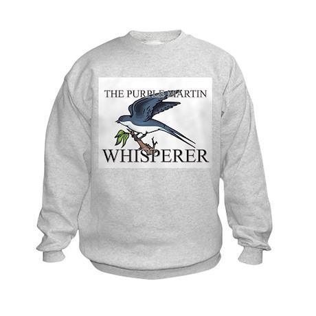 The Purple Martin Whisperer Kids Sweatshirt