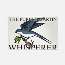 The Purple Martin Whisperer Rectangle Magnet