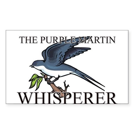 The Purple Martin Whisperer Rectangle Sticker
