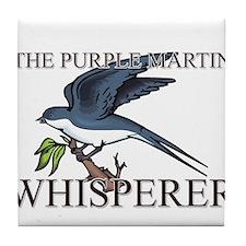 The Purple Martin Whisperer Tile Coaster