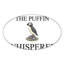 The Puffin Whisperer Oval Decal