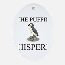 The Puffin Whisperer Oval Ornament