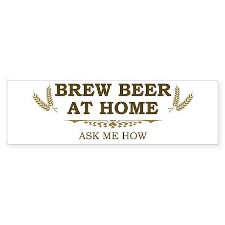 Brew at Home Bumper Sticker