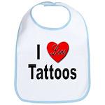 I Love Tattoos Bib