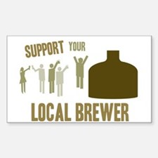 Support Your Local Brewer Rectangle Decal