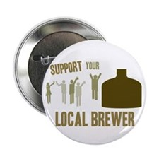 """Support Your Local Brewer 2.25"""" Button"""