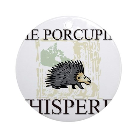 The Porcupine Whisperer Ornament (Round)