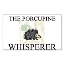 The Porcupine Whisperer Rectangle Decal