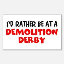 demolition derby Sticker (Rectangle)