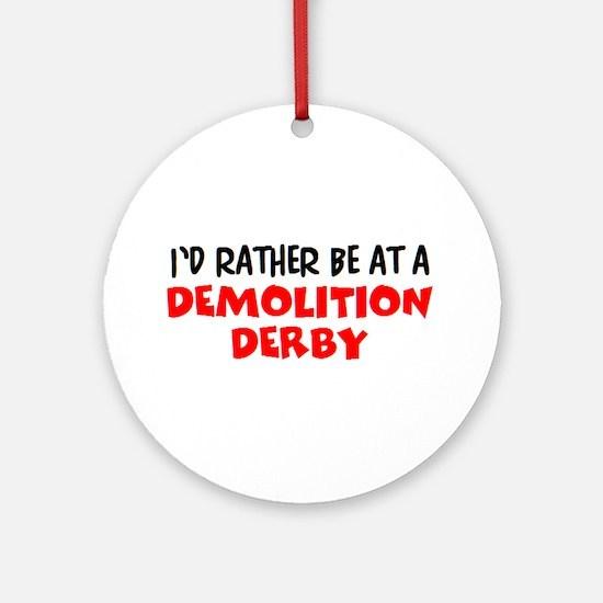 demolition derby Round Ornament