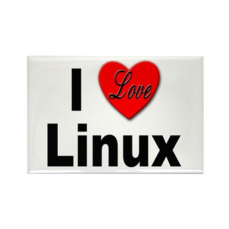I Love Linux Rectangle Magnet