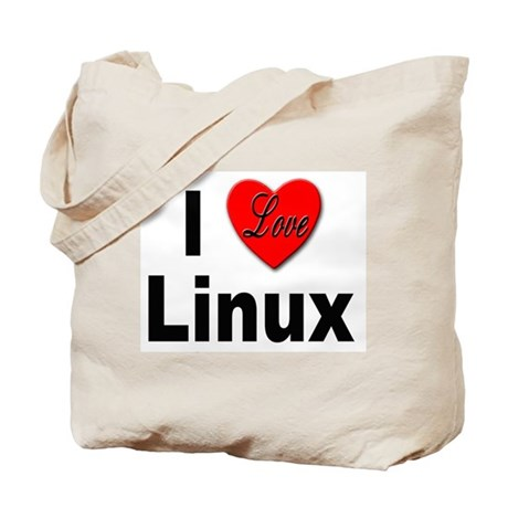 I Love Linux Tote Bag