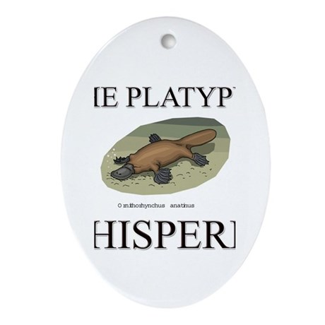 The Platypus Whisperer Oval Ornament