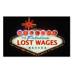 LOST WAGES Rectangle Decal