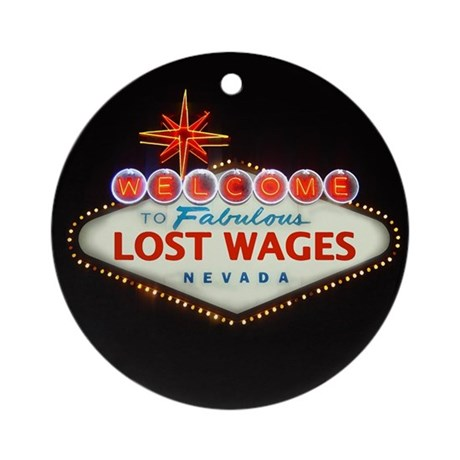 LOST WAGES Ornament (Round)