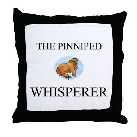 The Pinniped Whisperer Throw Pillow