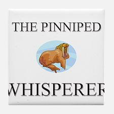 The Pinniped Whisperer Tile Coaster