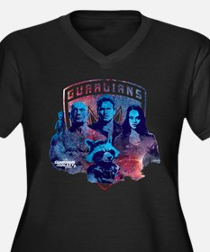 GOTG Sky Women's Plus Size V-Neck Dark T-Shirt