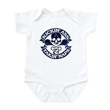 Kickin ass and takin naps Infant Bodysuit