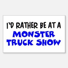 monster truck show Sticker (Rectangle)