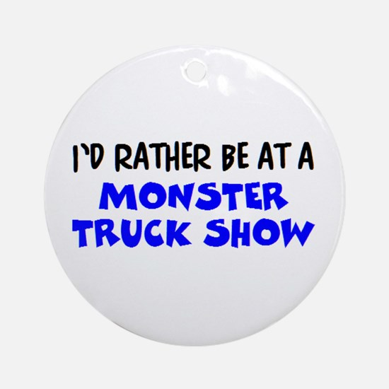monster truck show Round Ornament