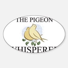 The Pigeon Whisperer Oval Decal