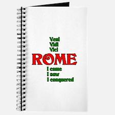 Veni Vidi Vici I came, I saw, I conquered Journal