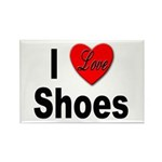 I Love Shoes Rectangle Magnet (10 pack)