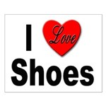 I Love Shoes Small Poster