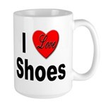 I Love Shoes Large Mug