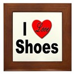 I Love Shoes Framed Tile