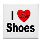 I Love Shoes Tile Coaster