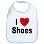I Love Shoes Bib