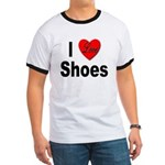 I Love Shoes (Front) Ringer T