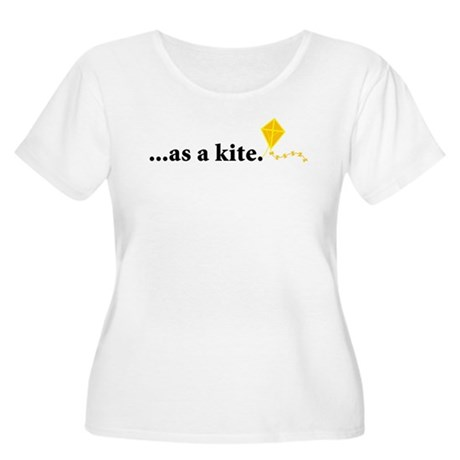 as a kite Women's Plus Size Scoop Neck T-Shirt