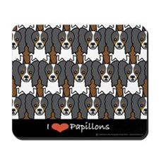 I love Papillons Mousepad