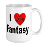 I Love Fantasy Large Mug