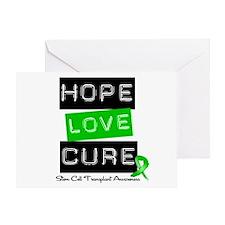 SCT Survivor Heart Ribbon Greeting Card